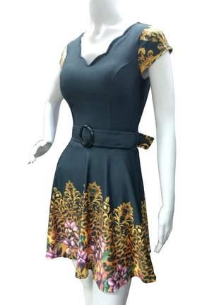Vestido midi godê princesa rodado moda evangélica
