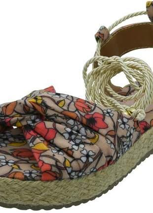 Sandalia de amarrar
