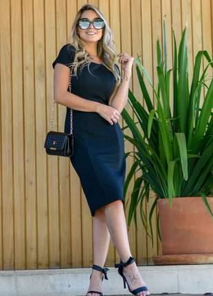 Vestido midi tubinho moda evangélica social