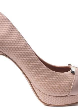 Sapato feminino peep toe meia pata