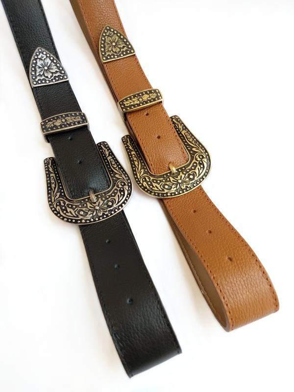 0d2b021b2121be Cinto feminino fivela country couro legítimo - R$ 79.90 | SHAFA - O melhor  da moda feminina