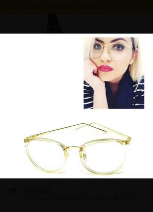 Óculos armação de grau redondo