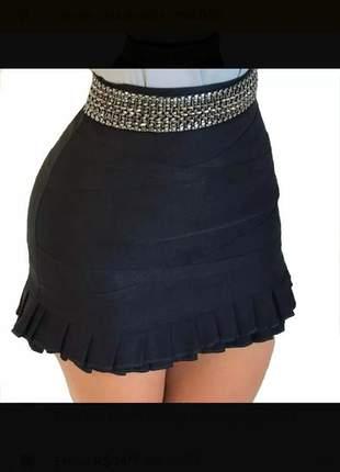 Short saia com babadinhos