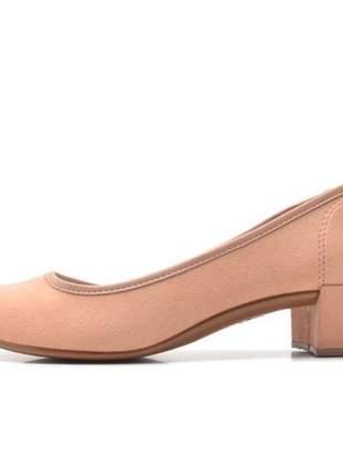 Sapato moleca salto baixo  camurça flex 5662.100