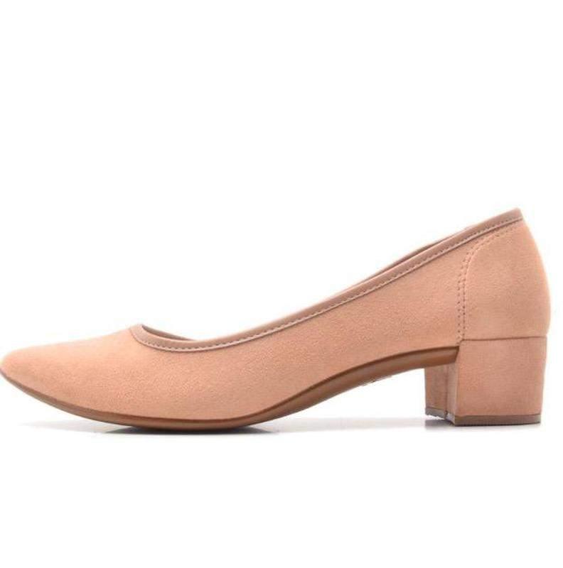 3e8d3588ec Sapato moleca salto baixo camurça flex 5662.100 - R  79.90 ...