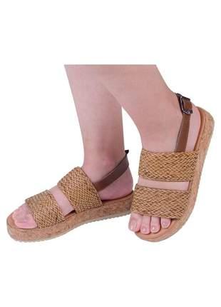Sandalia flatform leblon mercedita shoes caramelo