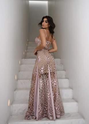 Vestido duchesse dourado