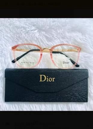 Armação de grau óculos rosa glitter