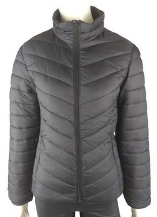Jaqueta feminina inverno capuz