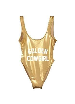 Maiô body golden cowgirl
