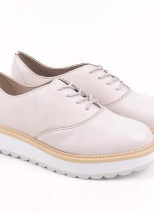 Sapato feminino beira rio napa turim 4214.104 na cor creme
