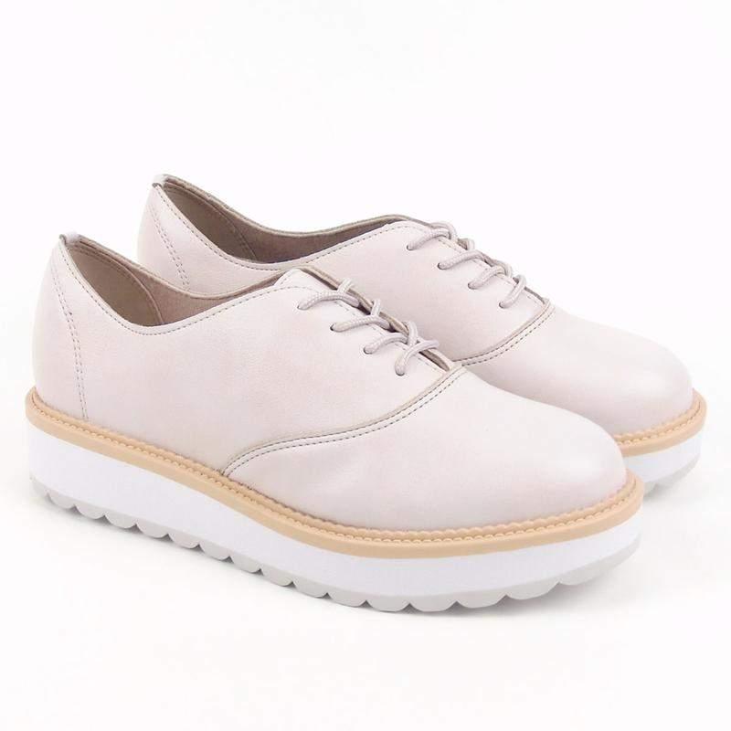 a71b576f8 Sapato tênis oxford feminino beira rio napa turim 4214.104 na cor creme1 ...