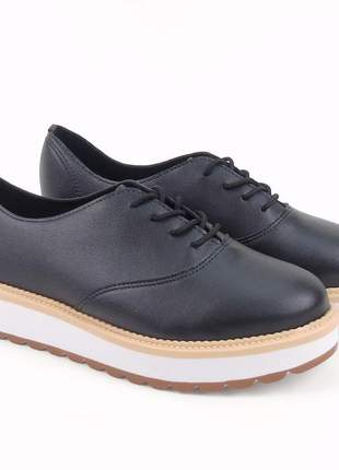 Sapato feminino beira rio napa turim 4214.104 na cor preto