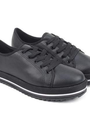Sapato feminino casual oxford beira rio napa preto 4196.303