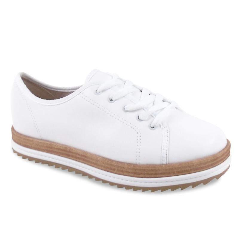 4d765d8a85 Sapato oxford feminino beira rio tratorado na cor branco - R  79.99 ...