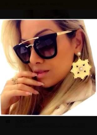 Óculos de sol feminino blogueira moda de luxo grande promoção