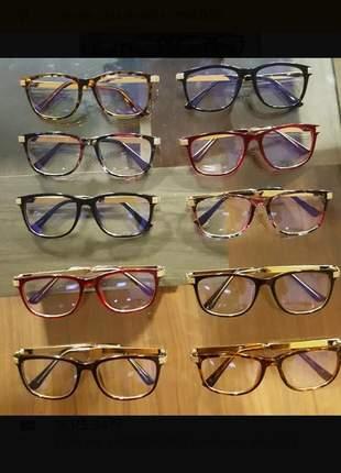 8e74abfec Óculos para grau feminino quadrado geek nee cat - R$ 160.00 #20771 ...