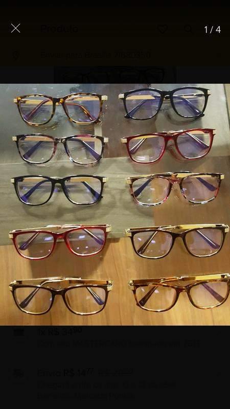 f37b2fa50 Armação óculos de grau acetado quadrada. - R$ 119.00 #18743, compre ...