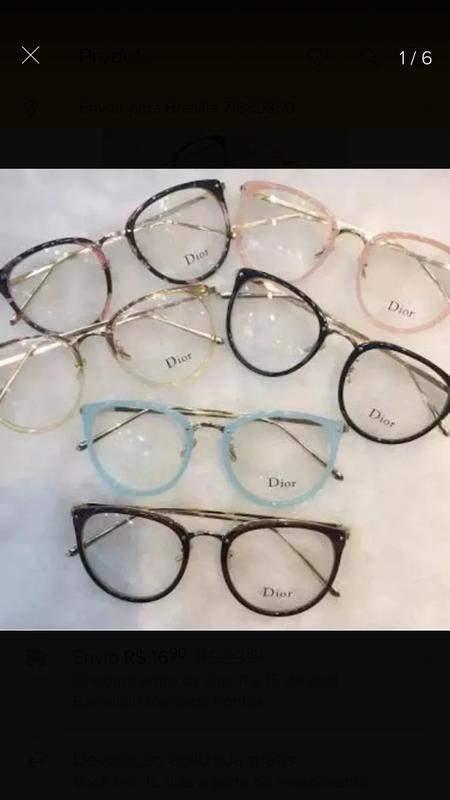 a776802c7 Armação óculos de grau vintage - R$ 99.00 (transparente, quadrado ...