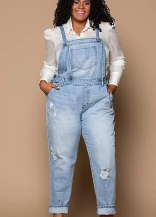 Jardineira jeans - izzat jeans - diversos tamanhos