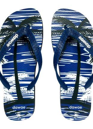 Chinelo dawae tropical summer azul