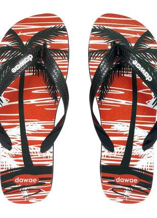 Chinelo dawae tropical summer laranja