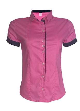 Blusa feminina manga curta rosa