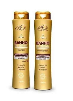 Shampoo + condicionador banho de verniz - bel kit