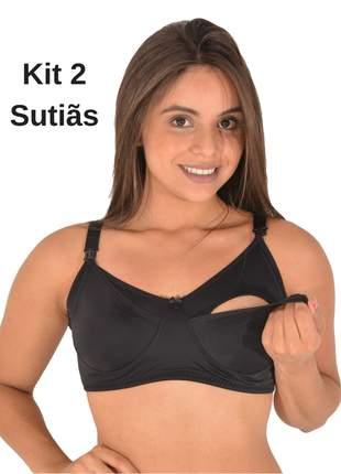 b65c5578c Kit 2 sutiã soutien amamentação gestante sutian 23