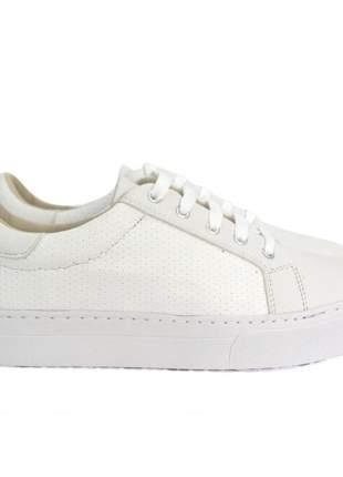 Tênis dali shoes básico com cadarço branco feminino