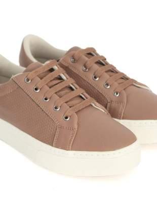 Tênis dali shoes básico com cadarço caramelo feminino