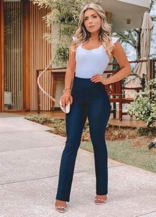Calça flare colmeia bailarina blogueira frete grátis rf. 85b