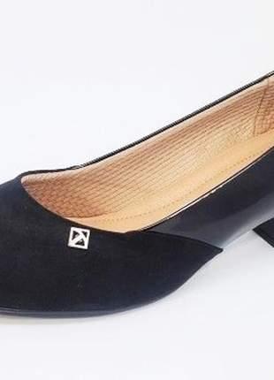 Sapato feminino tamanhos grandes scarpin piccadilly mauve e preto 40 e 41
