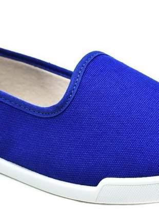 Sapatilha feminina moleca lona verão 5636.100 na cor azul