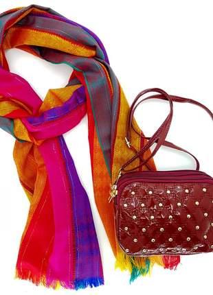 Kit bolsa e lenço
