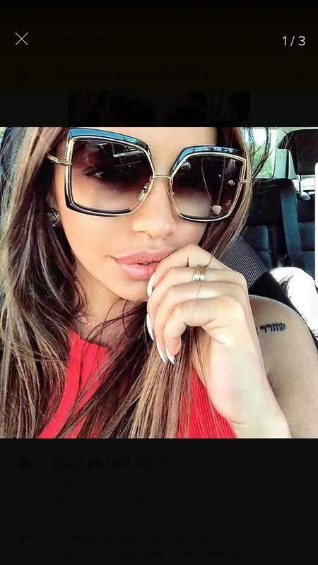 0ee56deee Óculos de sol quadrado feminino fashion nova coleção - R$ 160.00 ...