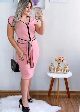Vestido tubinho rosa
