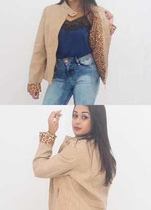 Jaqueta de couro ecológico
