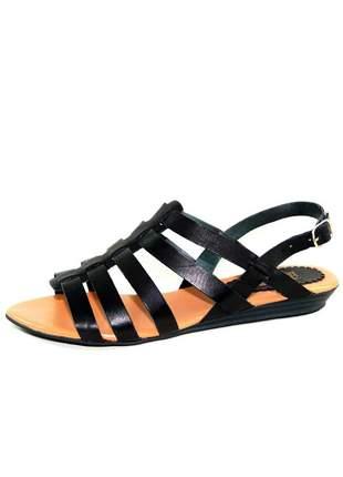 Sandália infinity shoes rasteira preto