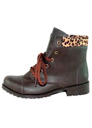 Coturno infinity shoes onça marrom