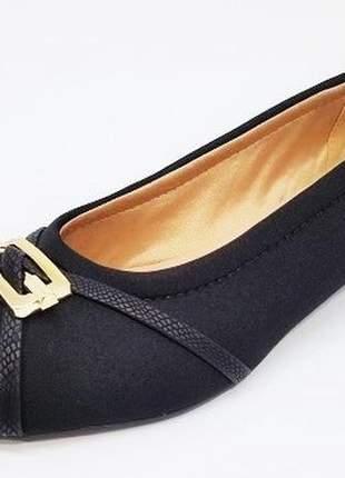 Sapato feminino grandes peep toe renata della vecchia preto numeração especial 40 ao 44
