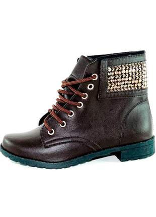 Coturno infinity shoes brilho marrom