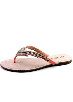 Rasteira infinity shoes top fashion coral