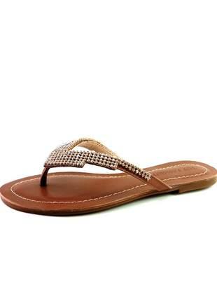 Rasteira infinity shoes top fashion pinhão