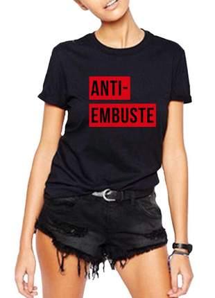 Blusa camiseta anti embuste frases divertidas