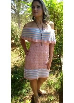 Vestido ciganinha trico verão