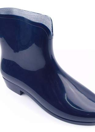 Bota feminina grendha galocha azul borracha original