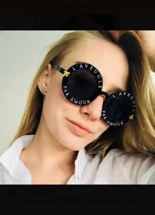 Óculos de sol feminino redondo pa amour paris