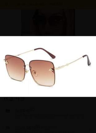 Óculos de sol quadrado feminino quadrado grande degradê
