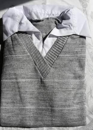 Suéter gola camisa